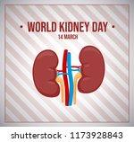 world kidneys day. vector...   Shutterstock .eps vector #1173928843