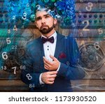 space world of numerology | Shutterstock . vector #1173930520
