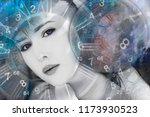 space world of numerology | Shutterstock . vector #1173930523