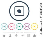 grab object flat color icons in ... | Shutterstock .eps vector #1173935650