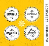 healthy vegan snack granola...   Shutterstock .eps vector #1173935779