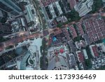 aerial view of business area... | Shutterstock . vector #1173936469