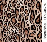 seamless leopard skin pattern | Shutterstock . vector #1173936976