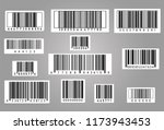 realistic bar code icon. a... | Shutterstock .eps vector #1173943453