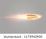 a flying bullet with a fiery... | Shutterstock .eps vector #1173943900