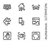 set of black vector icons ... | Shutterstock .eps vector #1173945196