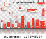 a set of signboards for... | Shutterstock .eps vector #1173945199