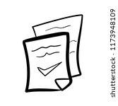 cecklist doodle icon vector