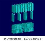 3d elegance font set | Shutterstock .eps vector #1173950416