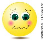 cartoon emoji character smile... | Shutterstock .eps vector #1173953170