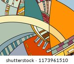 abstract contemporary art with... | Shutterstock .eps vector #1173961510