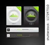 modern player for web   Shutterstock .eps vector #117397510