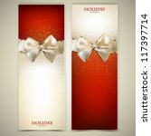 elegant greeting cards with... | Shutterstock .eps vector #117397714