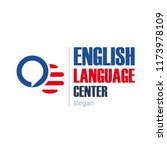 english language school logo... | Shutterstock .eps vector #1173978109