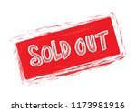 sold out text rubber seal stamp ... | Shutterstock .eps vector #1173981916