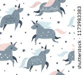 unicorn pattern seamless...   Shutterstock .eps vector #1173983383