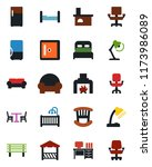 color and black flat icon set   ... | Shutterstock .eps vector #1173986089
