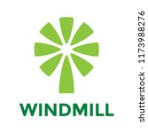 green windmill vector logo.... | Shutterstock .eps vector #1173988276