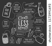 zero waste. eco lifestyle ... | Shutterstock .eps vector #1173991693