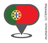 portugal location map. vector... | Shutterstock .eps vector #1173994966
