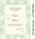damask invitation floral card | Shutterstock .eps vector #117400360