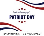 patriot day usa  9 11 poster.... | Shutterstock .eps vector #1174003969