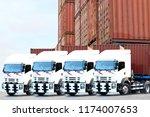 transportation truck service... | Shutterstock . vector #1174007653