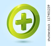green plus symbol isolated on... | Shutterstock .eps vector #117401239