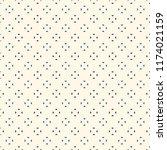mini triangles motif. ethnic... | Shutterstock .eps vector #1174021159