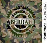 aberrant on camouflaged pattern | Shutterstock .eps vector #1174022869