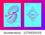 the posters of a music party.... | Shutterstock .eps vector #1174024153