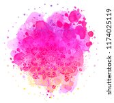 mandala over colorful... | Shutterstock .eps vector #1174025119