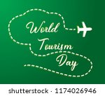 paper world tourism day tourism ... | Shutterstock .eps vector #1174026946