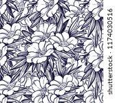 seamless pattern with garden... | Shutterstock .eps vector #1174030516