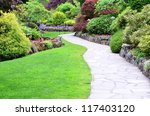garden landscape | Shutterstock . vector #117403120