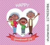 happy grandparents day   Shutterstock .eps vector #1174033486