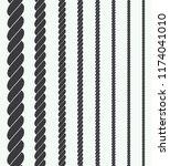 silhouette rope illustration | Shutterstock .eps vector #1174041010