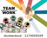 flat design illustration... | Shutterstock .eps vector #1174045039