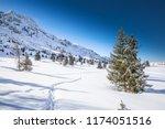 stunning winter sunrise over...   Shutterstock . vector #1174051516