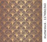art deco pattern. seamless... | Shutterstock .eps vector #1174061563