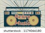 old vintage retro hipster... | Shutterstock .eps vector #1174066180