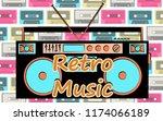 old vintage retro hipster... | Shutterstock .eps vector #1174066189
