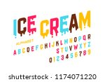 melting ice cream font ... | Shutterstock .eps vector #1174071220