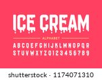 melting ice cream font ... | Shutterstock .eps vector #1174071310