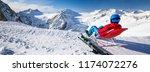 young happtyattractive skier...   Shutterstock . vector #1174072276