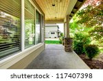 house covered porch with large... | Shutterstock . vector #117407398
