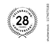 28 years design template. 28th... | Shutterstock .eps vector #1174075183