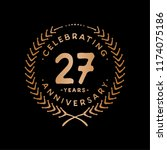 27 years design template. 27 th ... | Shutterstock .eps vector #1174075186
