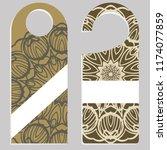 set of door hangers isolated on ... | Shutterstock .eps vector #1174077859