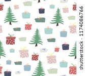 cute seamless pattern with... | Shutterstock .eps vector #1174086766